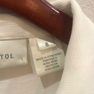 Susan Bristol Tops - SUSAN BRISTOL ecru white bottom down top size 8